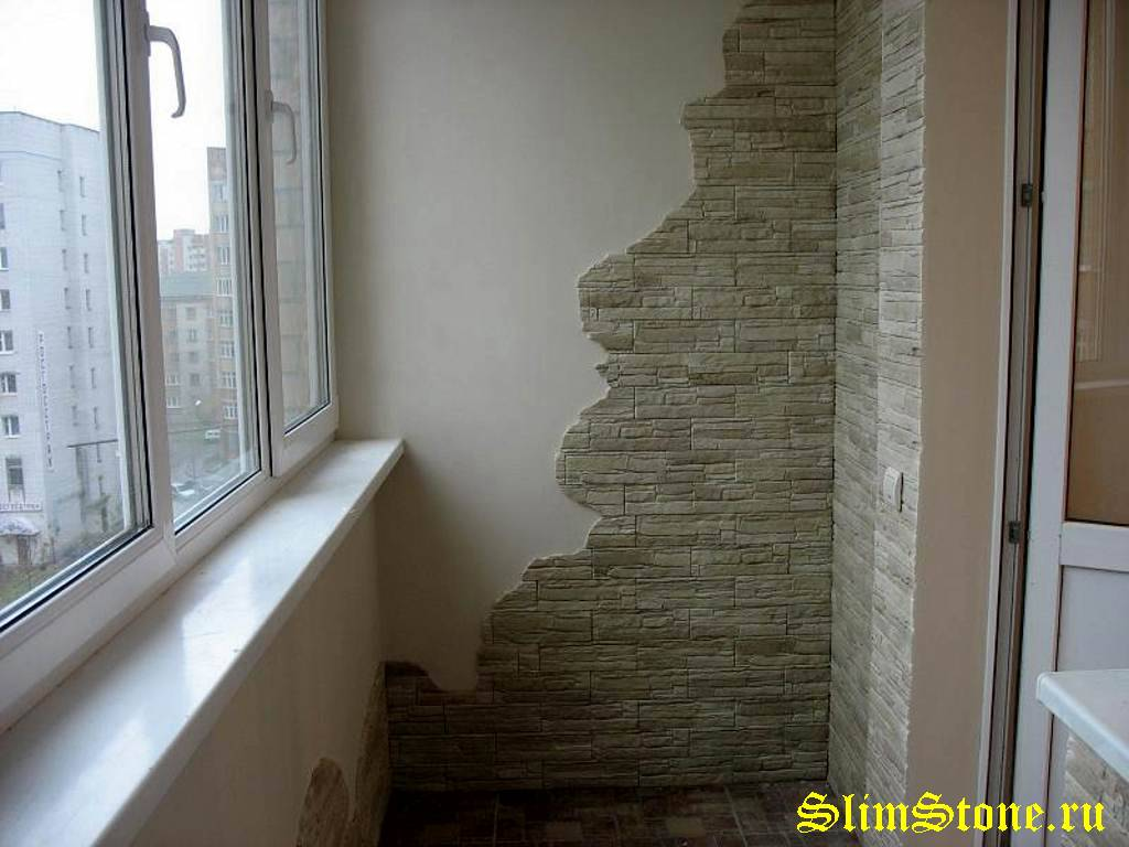 Камень на балконе фото. - галерея работ утепление - каталог .